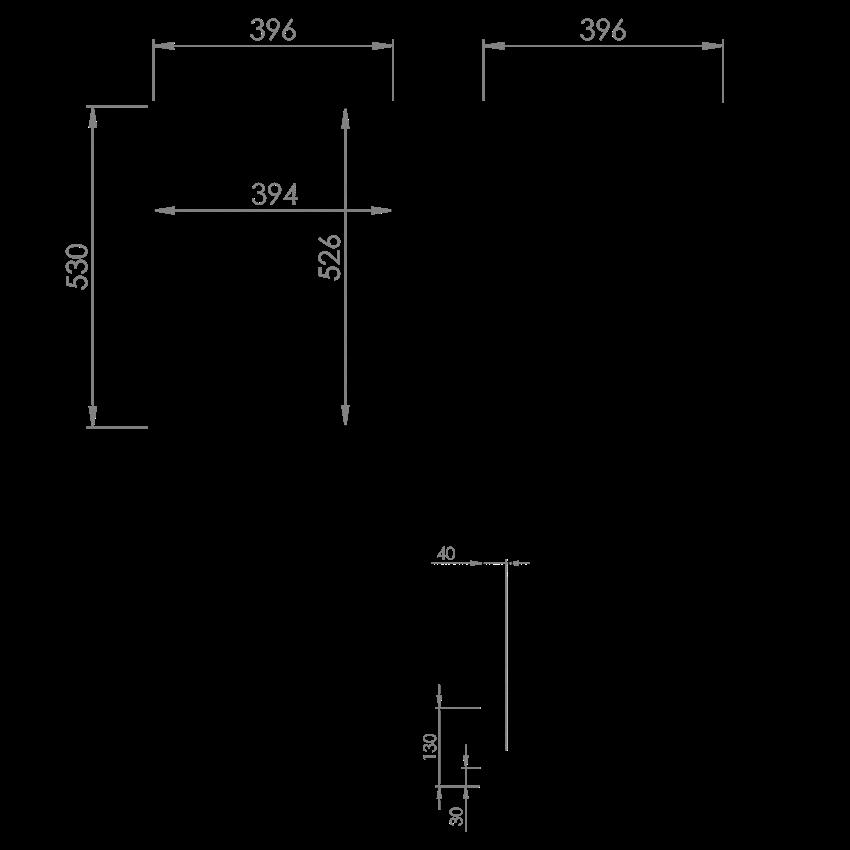 Komoda z koszem cargo 40 cm Elita Kwadro Plus 40 rysunek