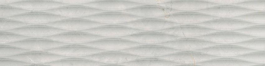 Płytka dekoracyjna 29,7x119,7 cm Cerrad Masterstone White waves