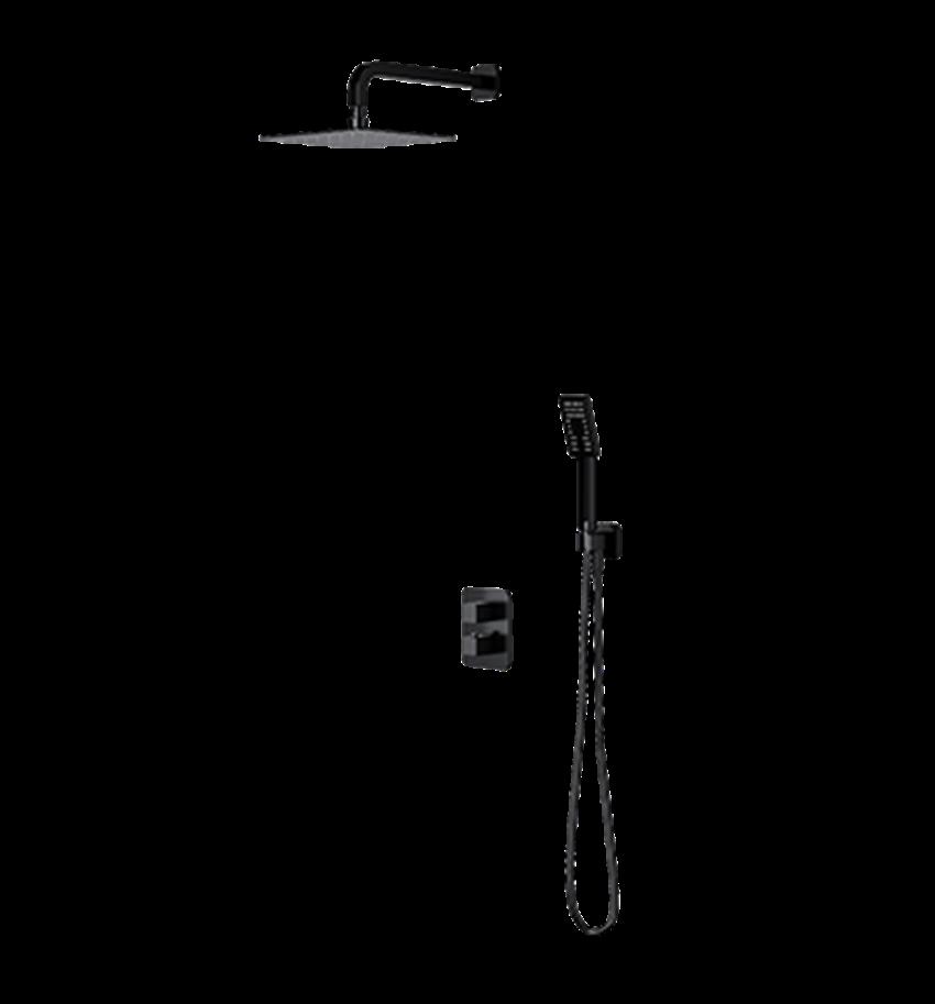 Kompletny łazienkowy system podtynkowy termostatyczny Omnires Parma