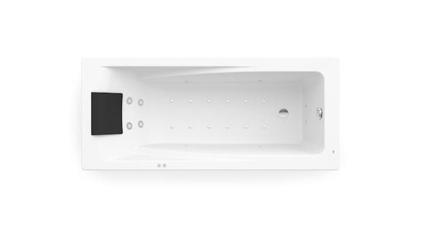 Prostokątna wanna akrylowa z hydromasażem Smart Air Plus Opcja 170x75 cm Roca Hall