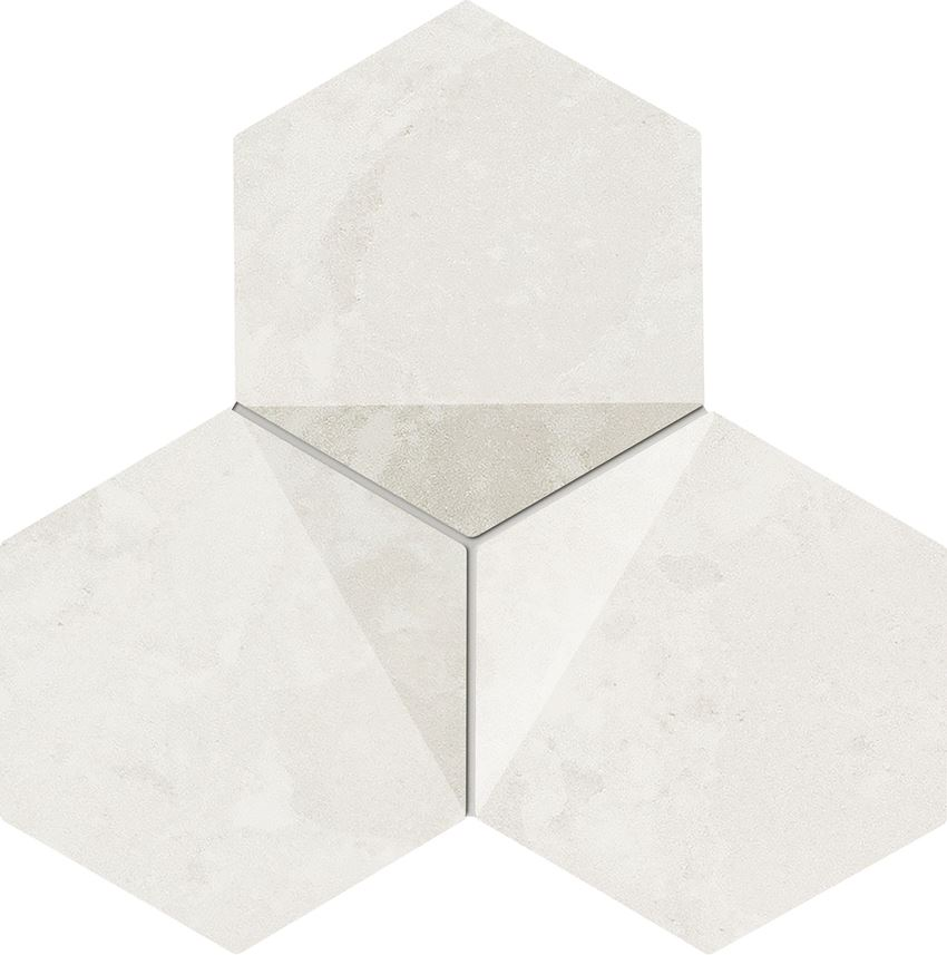 Mozaika 19,2x16,5 cm Tubądzin Scoria white