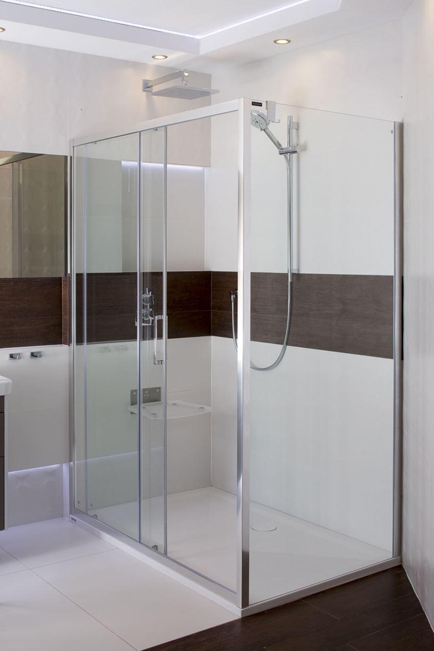Haczyk podwójny do zawieszenia na ścianie kabiny prysznicowej Omnires Uni