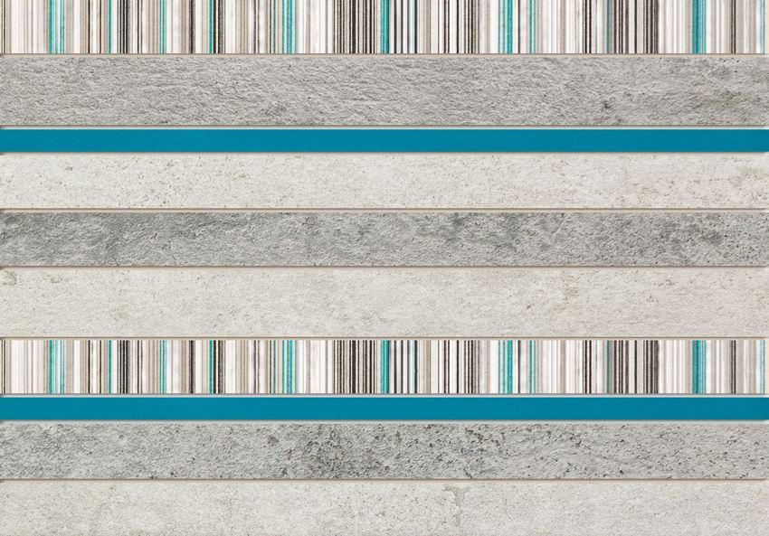 Dekor ścienny 36x25 cm Domino Gris turkus CER