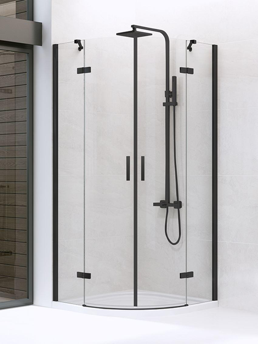 Kabina prysznicowa półokrągła New Trendy New Merana Black