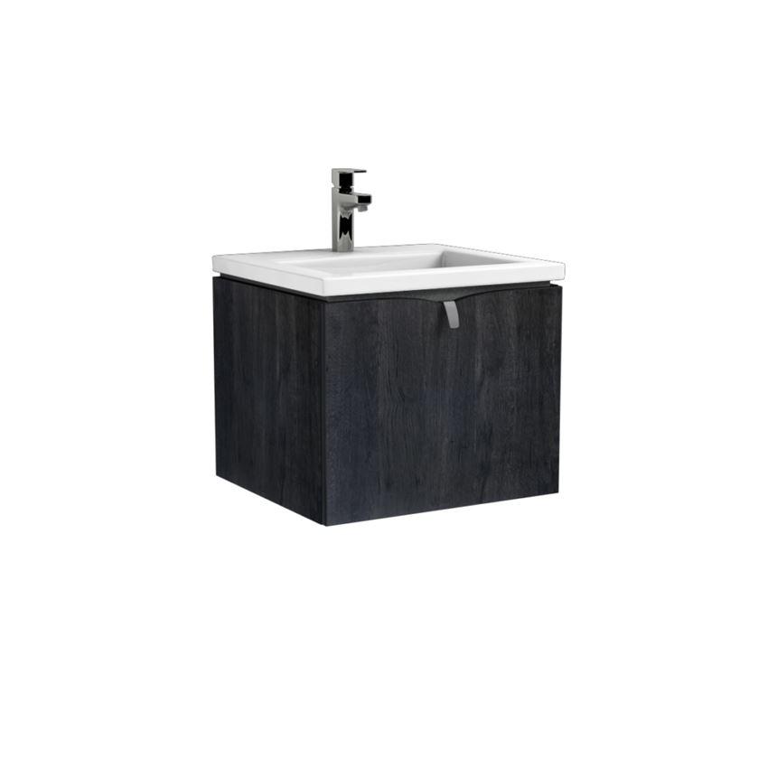 Szafka wisząca podumywalkowa dąb czarny 50 cm Oristo Siena