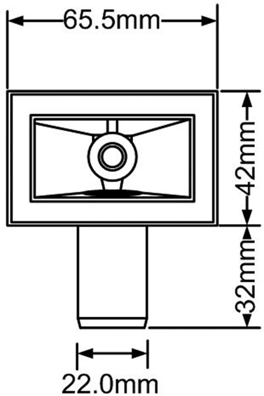 Przelew prostokątny z komory zlewozmywaka McAlpine rysunek techniczny
