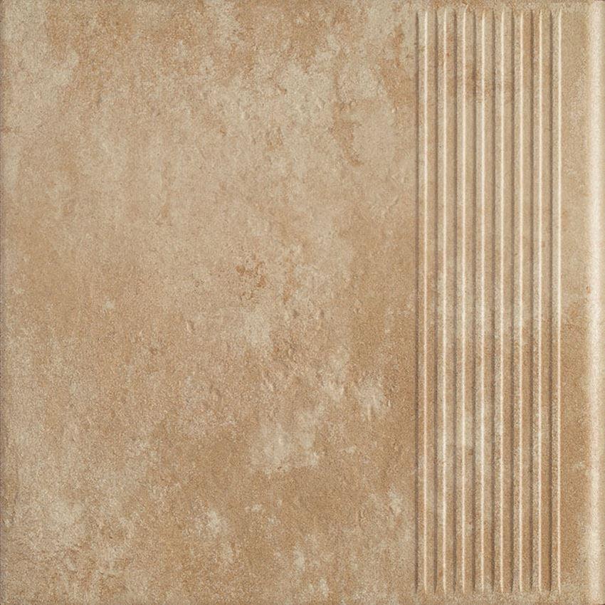 Płytka stopnicowa 30x30 cm Paradyż Ilario Beige Stopnica Prosta