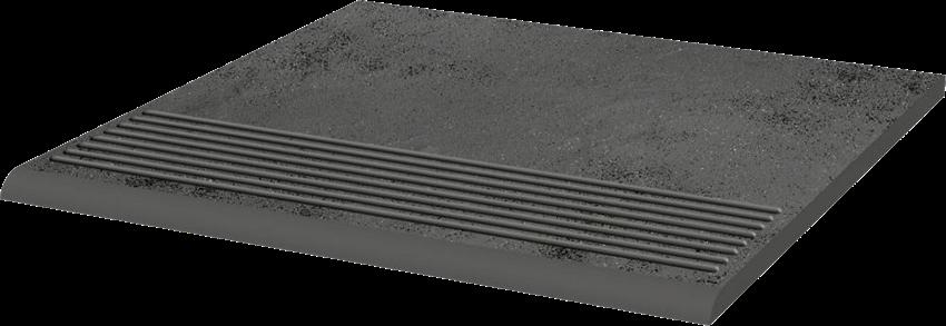 Płytka stopnicowa 30x30 cm Paradyż Semir Grafit Stopnica Prosta