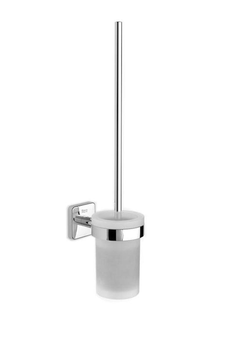 Szczotka wc szklana mocowanie ścienne 7,6x11,3x38 cm Roca Victoria