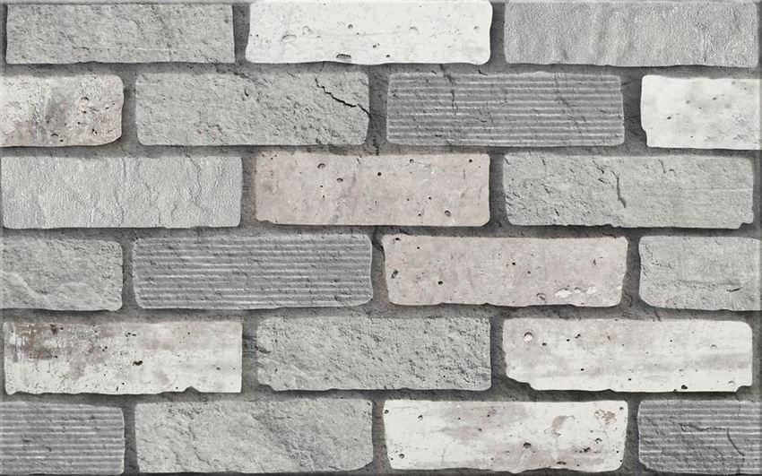 płytka ścienna Cersanit Wika Grey Inserto Structure WD442-001