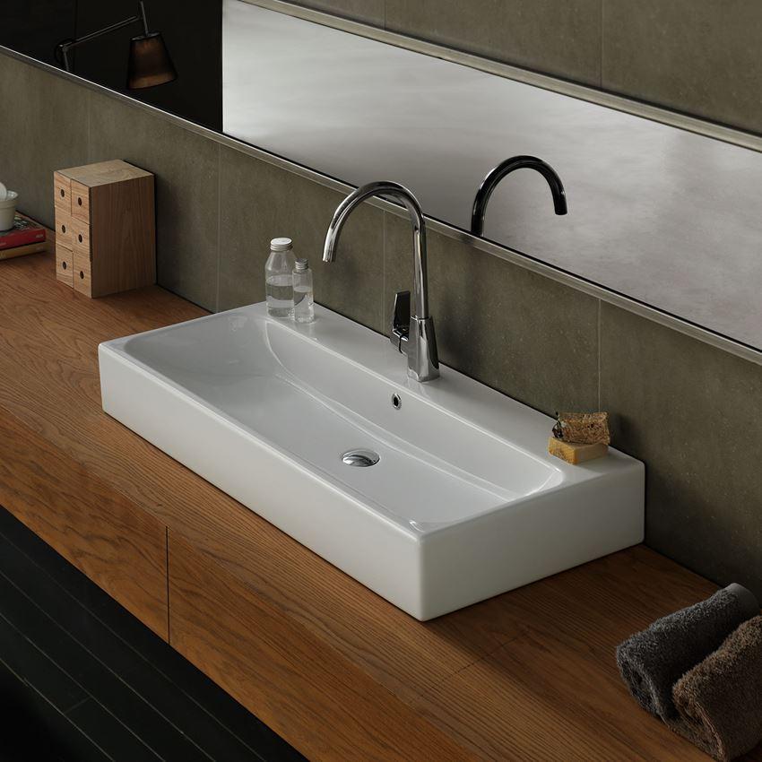 Aranżacja umywalki meblowej CeraStyle Pinto 080300-u