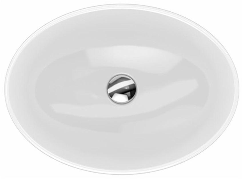 Umywalka owalna wpuszczana w blat z przelewem 55x39 cm Koło VariForm