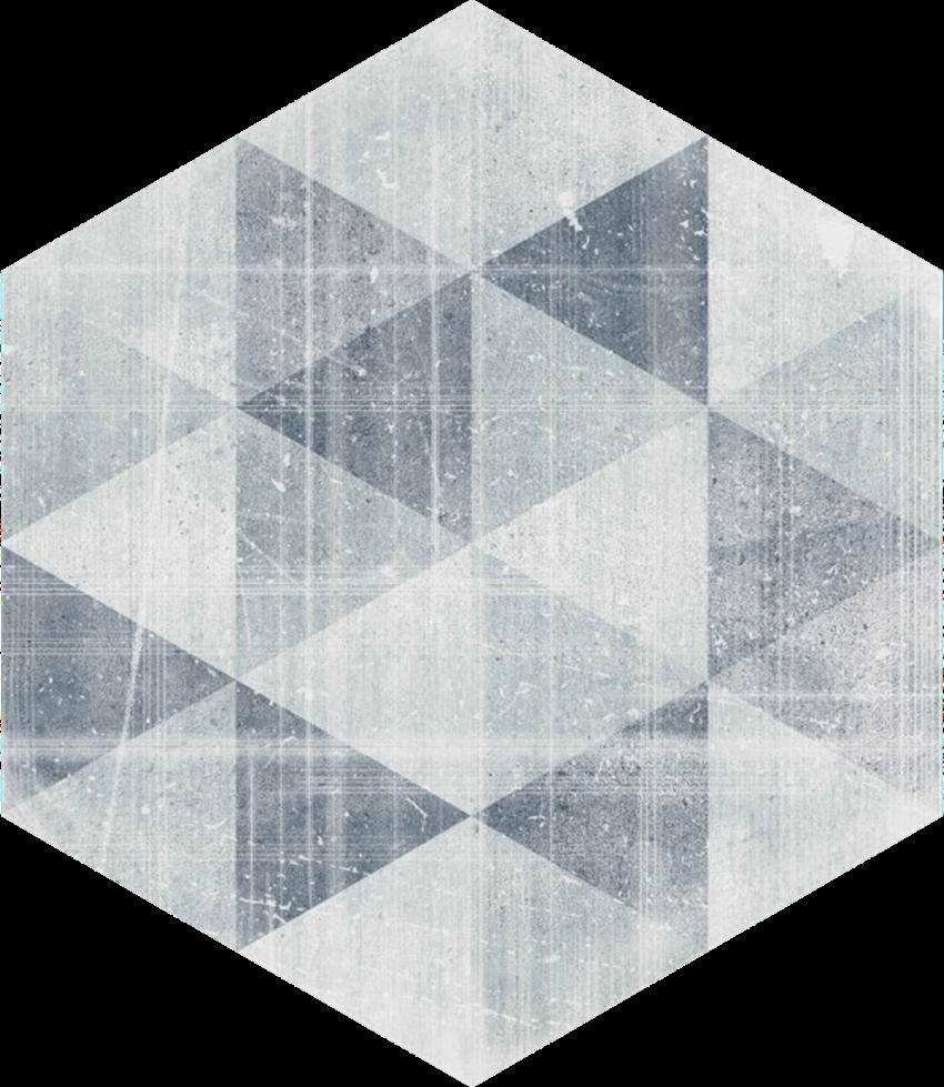Płytka podłogowa Paradyż Hexx Universum Motyw Grigio Heksagon