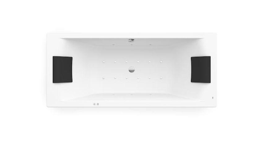 Prostokątna wanna akrylowa z hydromasażem Smart Air Plus 180x80 cm Roca Hall