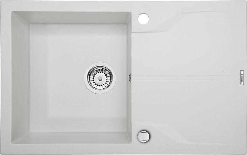 Zlewozmywak 1-komorowy z ociekaczem alabaster Deante Andante Flush