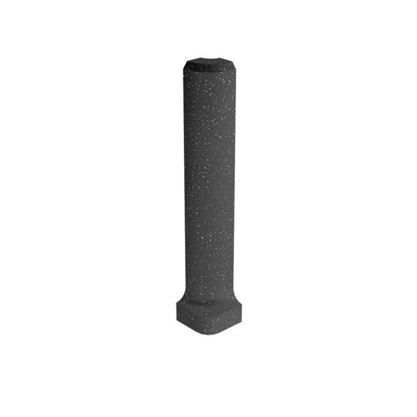 Dekoracja podłogowa 3x10 cm Paradyż Bazo Nero Profil Zewnętrzny Sól-Pieprz Mat
