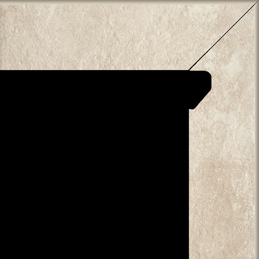 Płytka cokołowa 8,1x30 cm  Paradyż Scandiano Beige Cokół 2 El.-Prawy