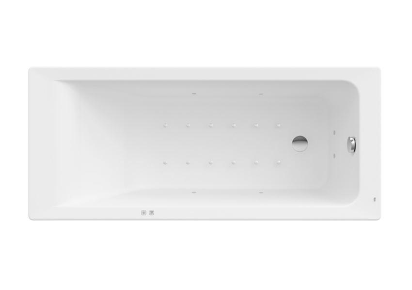 Prostokątna wanna akrylowa z hydromasażem Smart Air Plus 160x70x42 cm Roca Easy