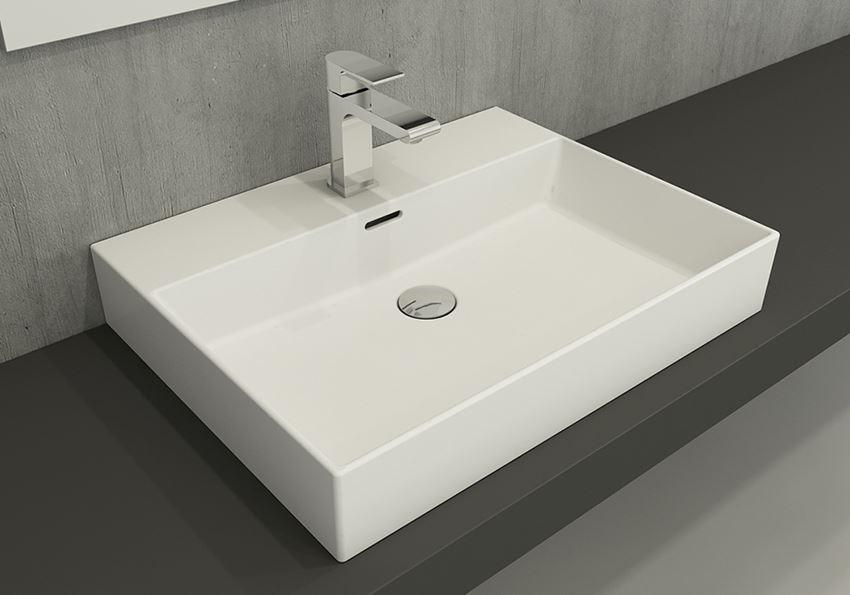 Umywalka meblowa/nablatowa/wisząca 60 cm Matt White Bocchi Milano