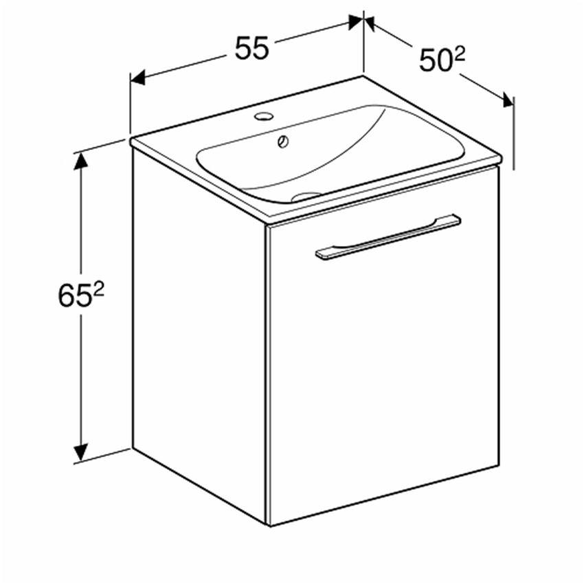 Szafka z umywalką 55  Koło Nova Pro Premium rysunek