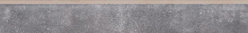 Płytka cokołowa, 8x79,7 cm Cerrad Montego antracyt