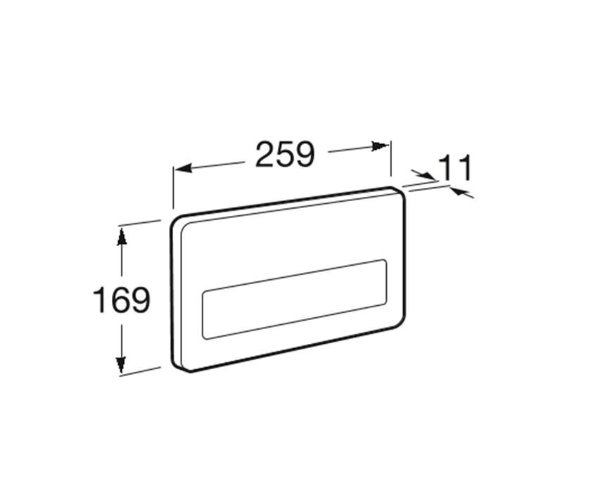 PL3 - przycisk ANTYWANDAL 1-funkcyjny Roca Stelaże podtynkowe rysunek techniczny