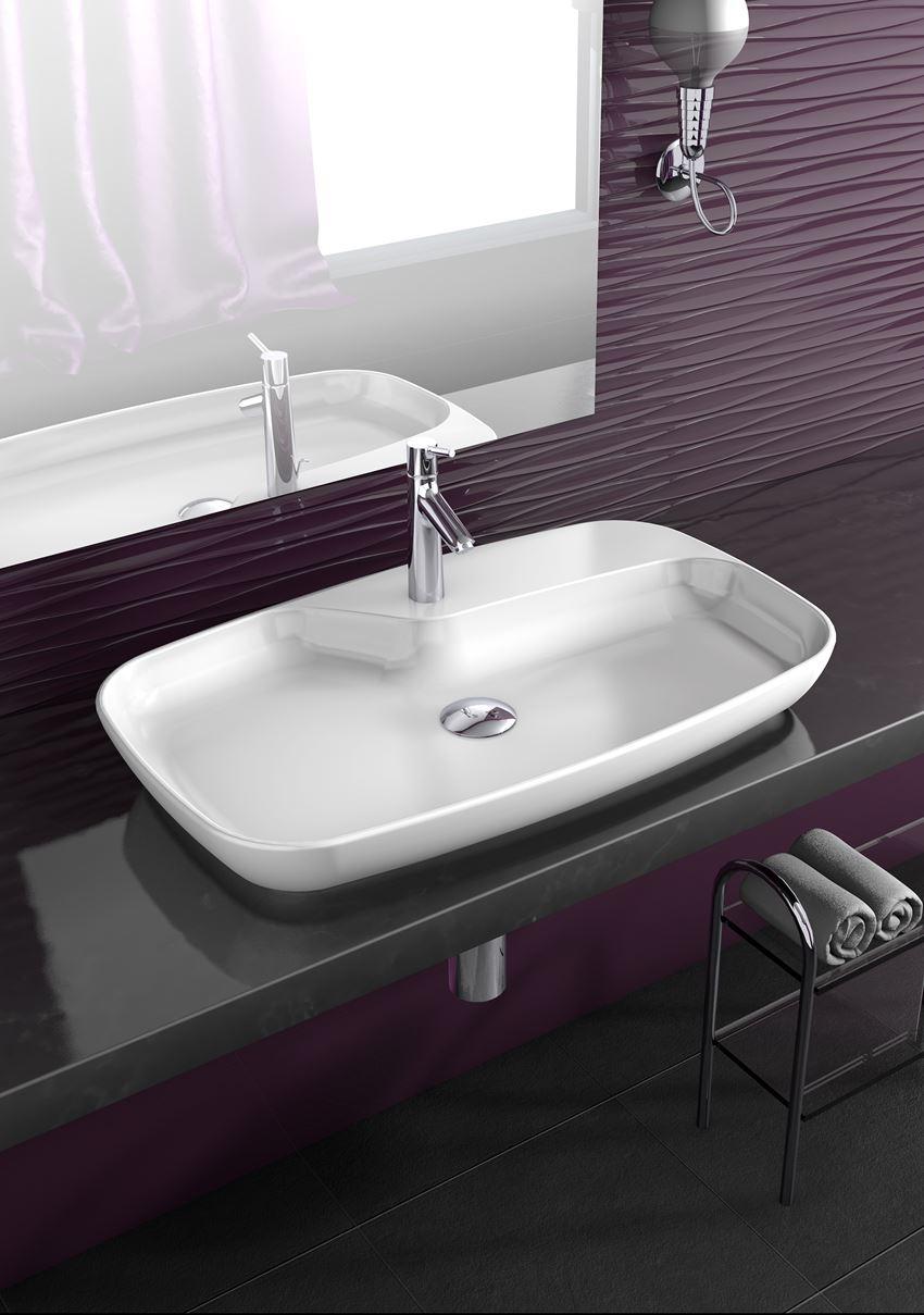 Aranżacja umywalki stawianej na blay CeraStyle Nova 074400-u