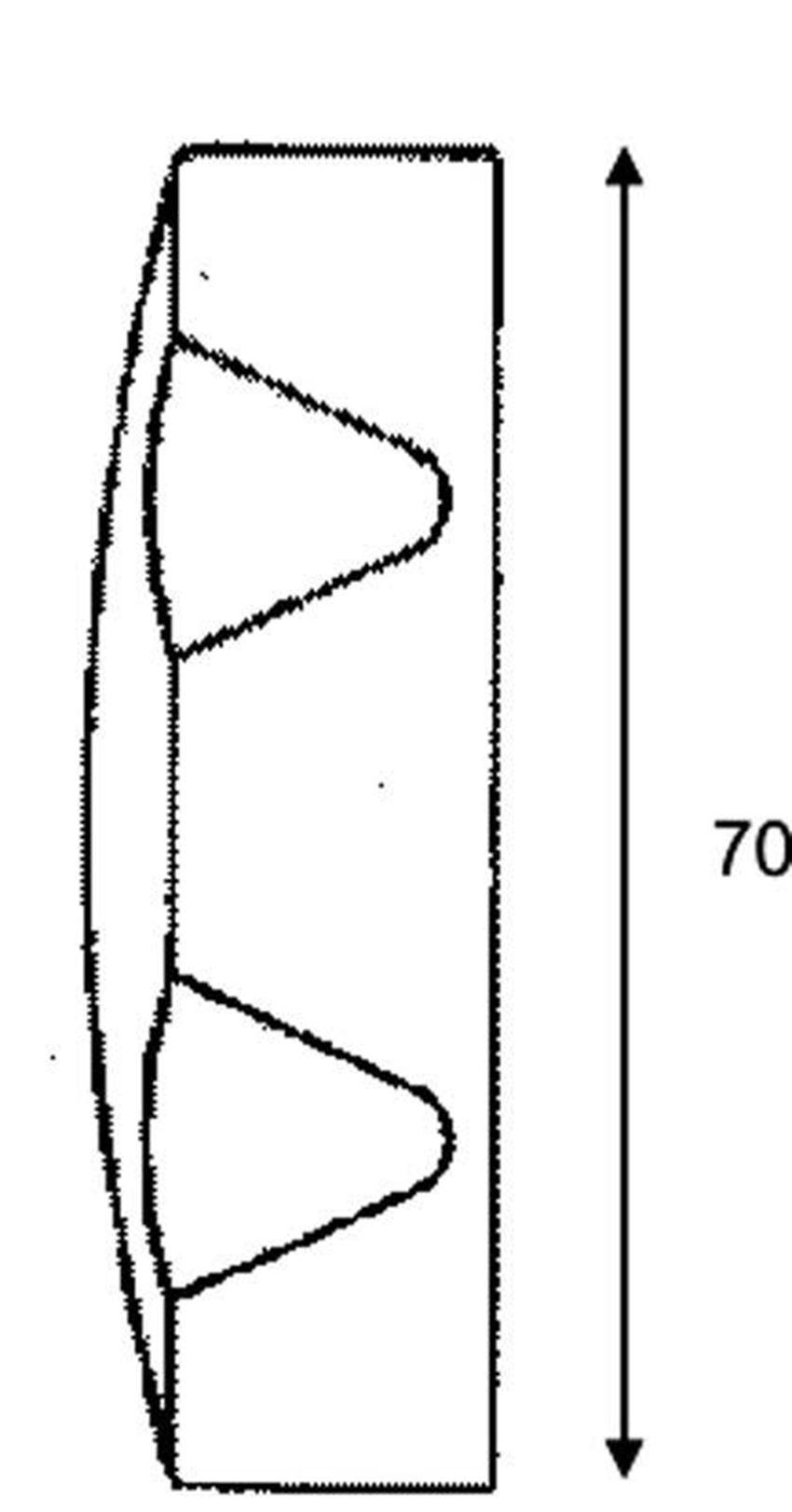 Pokrętło do zestawu wannowego McAlpine rysunek techniczny