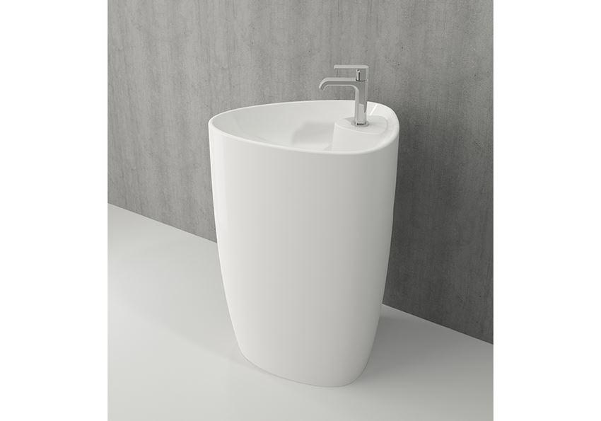 Umywalka wolnostojąca Glossy White Bocchi Etna