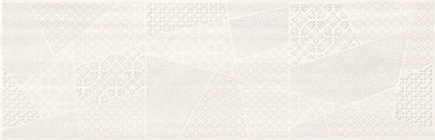 Płytka dekoracyjna 24x74 cm Cersanit Ferano white patchwork inserto satin
