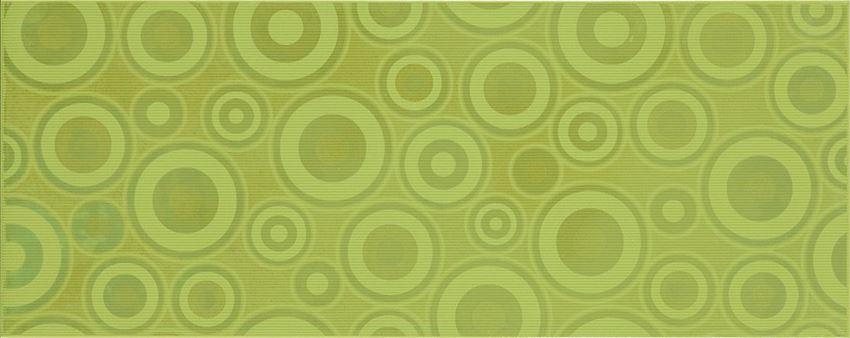 Płytka dekoracyjna 20x50 cm Cersanit Synthia green inserto circles