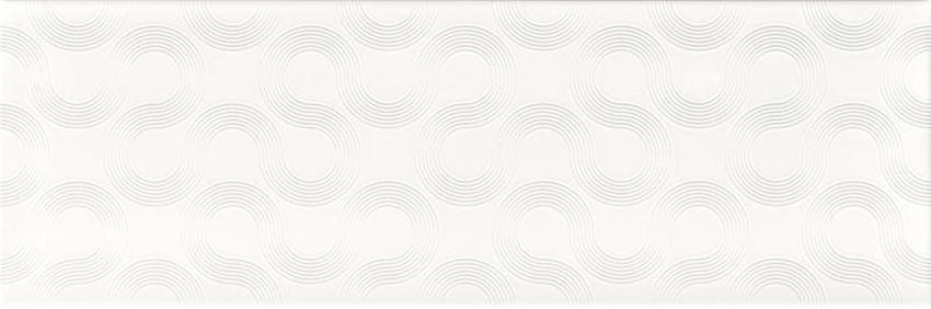 Płytka dekoracyjna 25x75 cm Opoczno Spin white geo