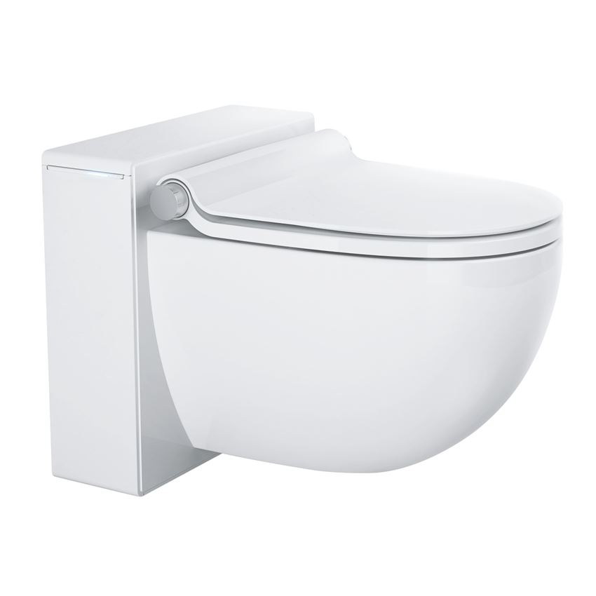 Toaleta myjąca do montażu z podtynkowym systemem spłukującym Grohe Sensia IGS