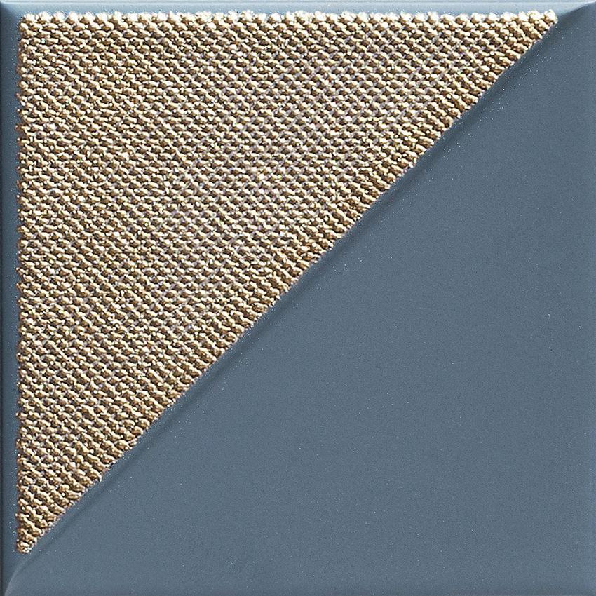 Dekor ścienny 14,8x14,8 cm Tubądzin Reflecion navy 3