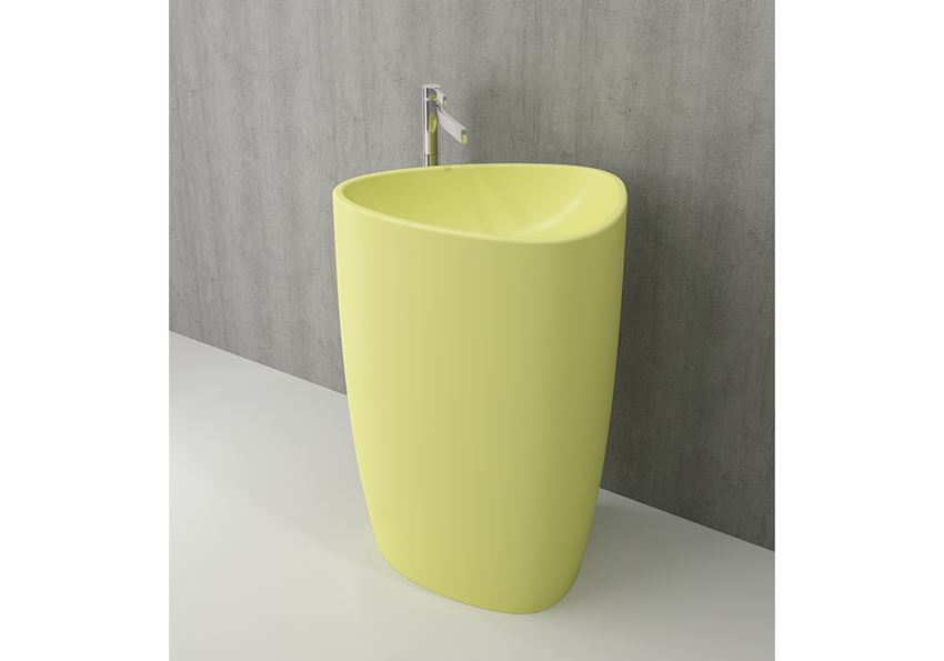 Umywalka wolnostojąca monoblok Matte Yellow Bocchi Etna