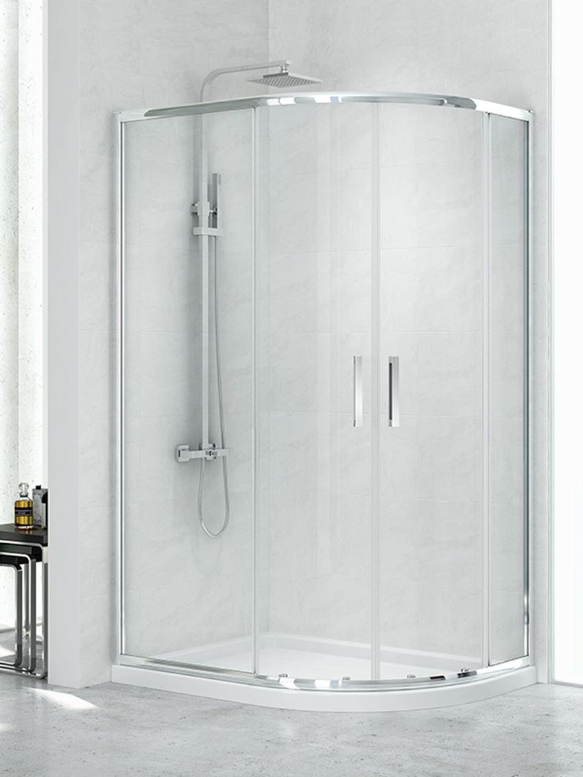 Kabina prysznicowa asymetryczna New Trendy New Maxima