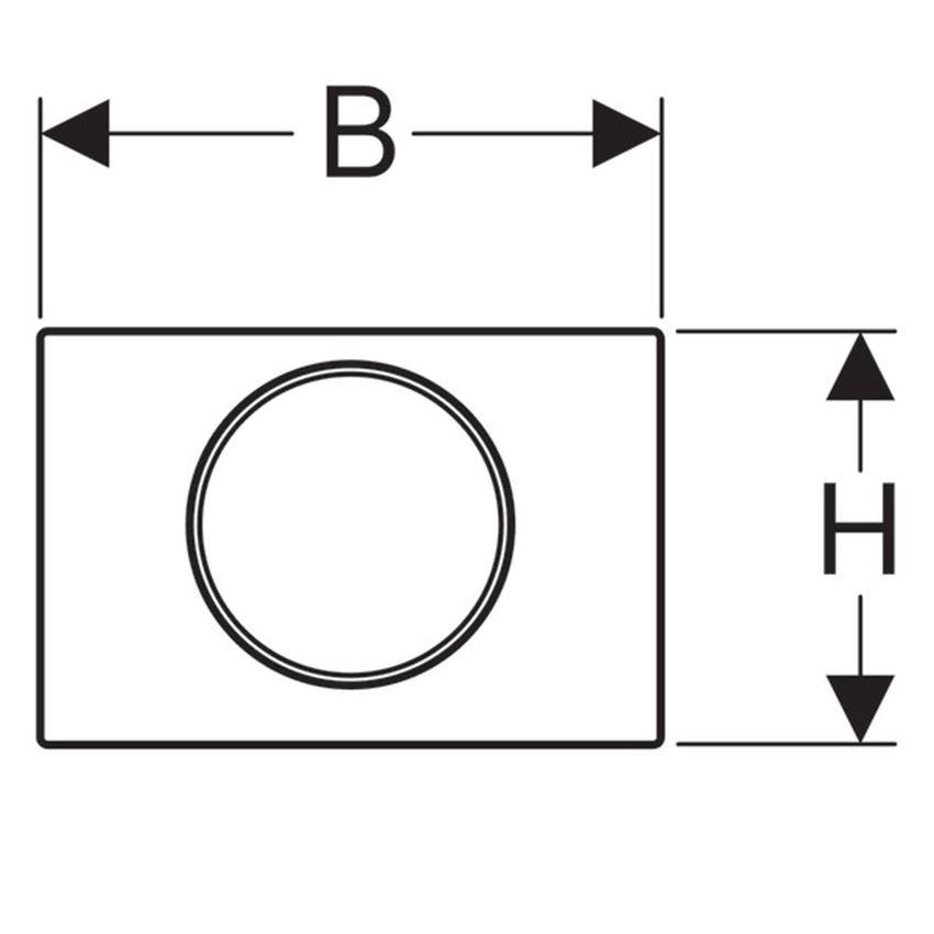 Przycisk uruchamiający przedni Geberit Sigma rysunek