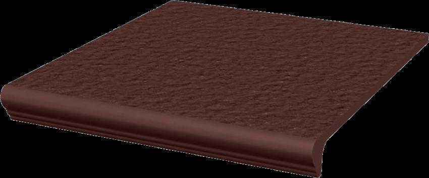 Płytka stopnicowa 30x33 cm Paradyż Natural Brown Kapinos Stopnica Prosta Duro