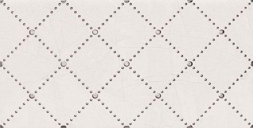 Dekor ścienny 60,8x30,8 cm Domino Idylla White