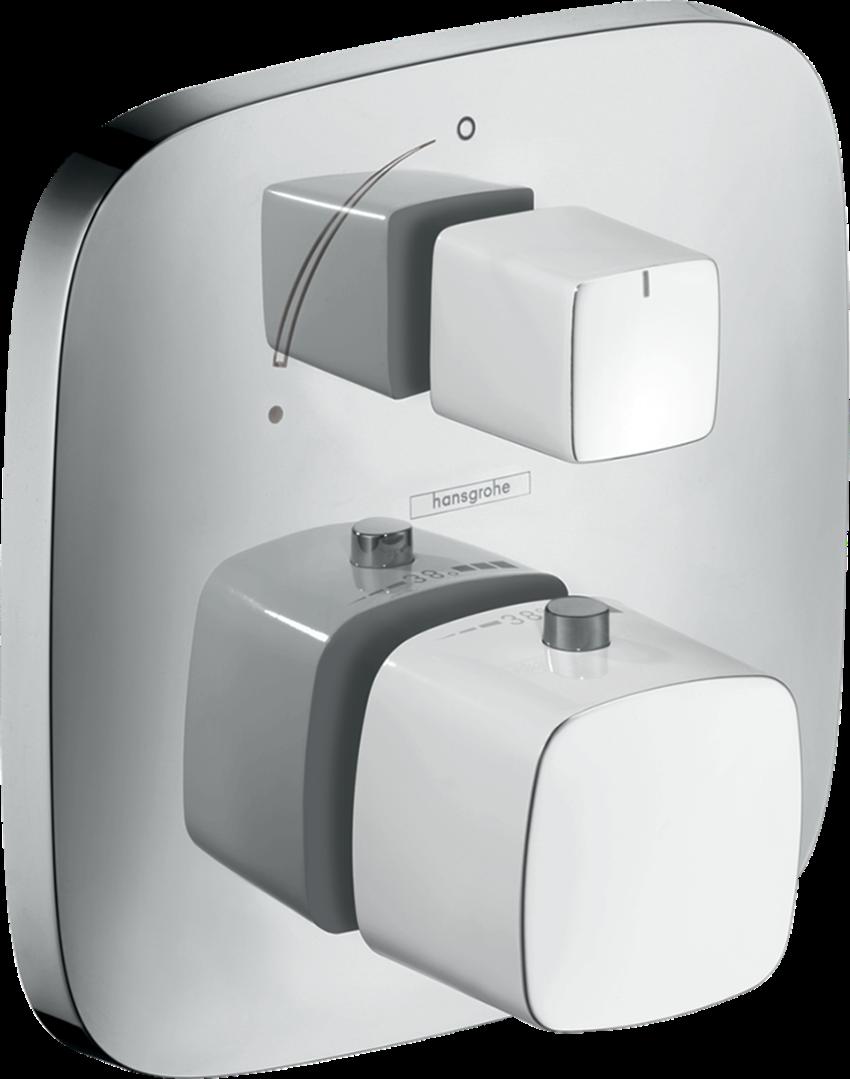 Bateria termostatyczna element zewnętrzny chrom/biały Hansgrohe PuraVida