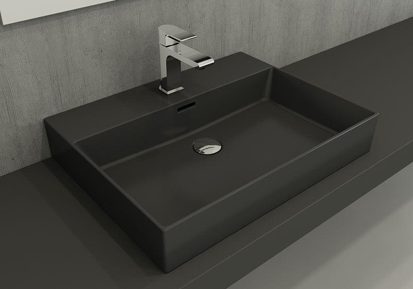 Umywalka meblowa/nablatowa/wisząca 60 cm Matt Anthracite Bocchi Milano