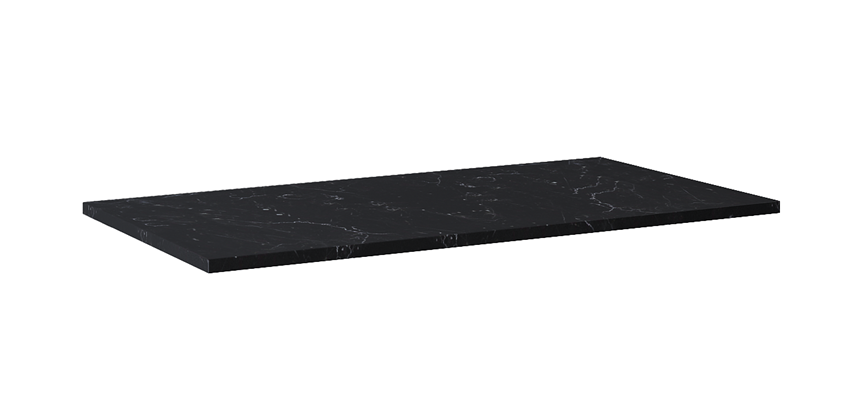 Blat naszafkowy pełny 100 cm Elita ElitStone MARMUR MARQUINA BLACK MATT