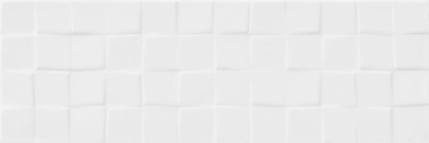 Płytka ścienna 19,8x59,8 cm Cersanit Simple Art White Glossy Structure Squares