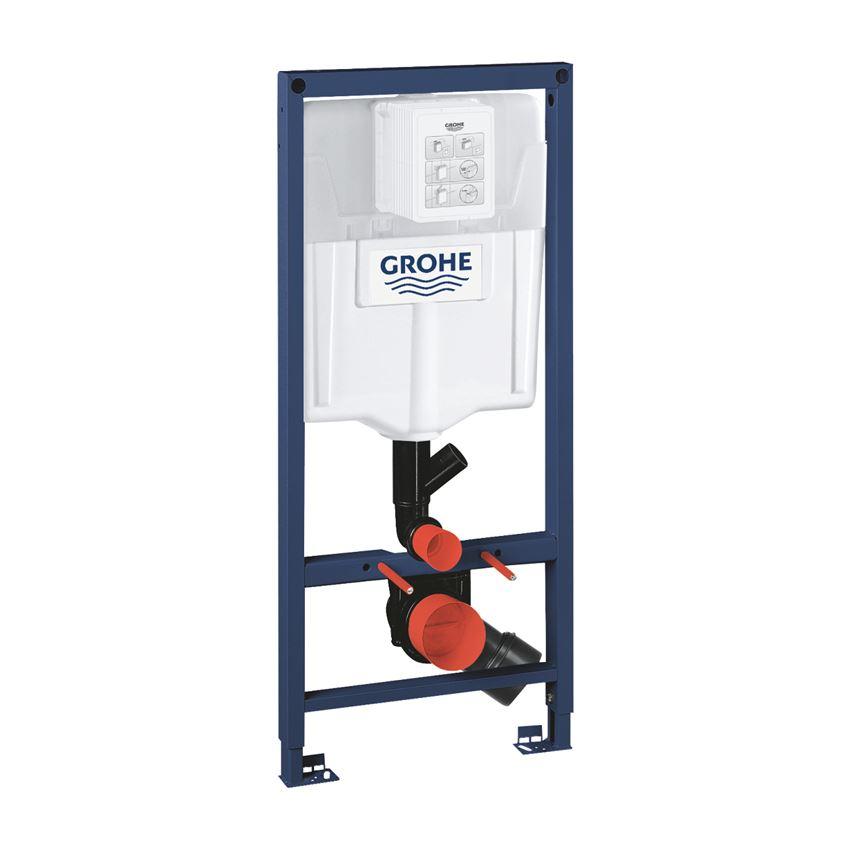 Stelaż do WC ściennego ze spłuczką i rurą Grohe Rapid SL