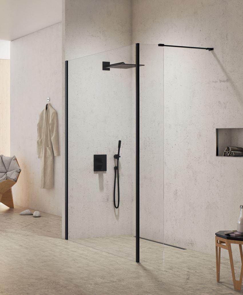 Ścianka kabiny prysznicowej New Modus Black
