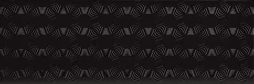 Płytka dekoracyjna  25x75 cm Opoczno Spin black geo