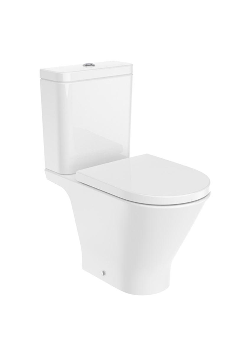 Miska WC Round o/podwójny do kompaktu Rimless 37x65,5x79 cm Roca Gap