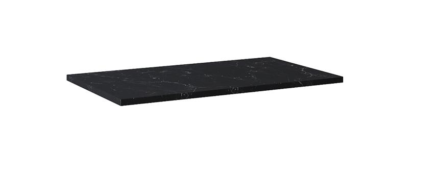 Blat naszafkowy pełny 80 cm Elita ElitStone MARMUR MARQUINA BLACK MATT