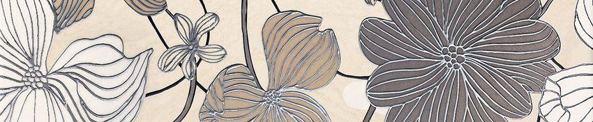 Listwa ścienna 36x7,4 cm Domino Opium flower