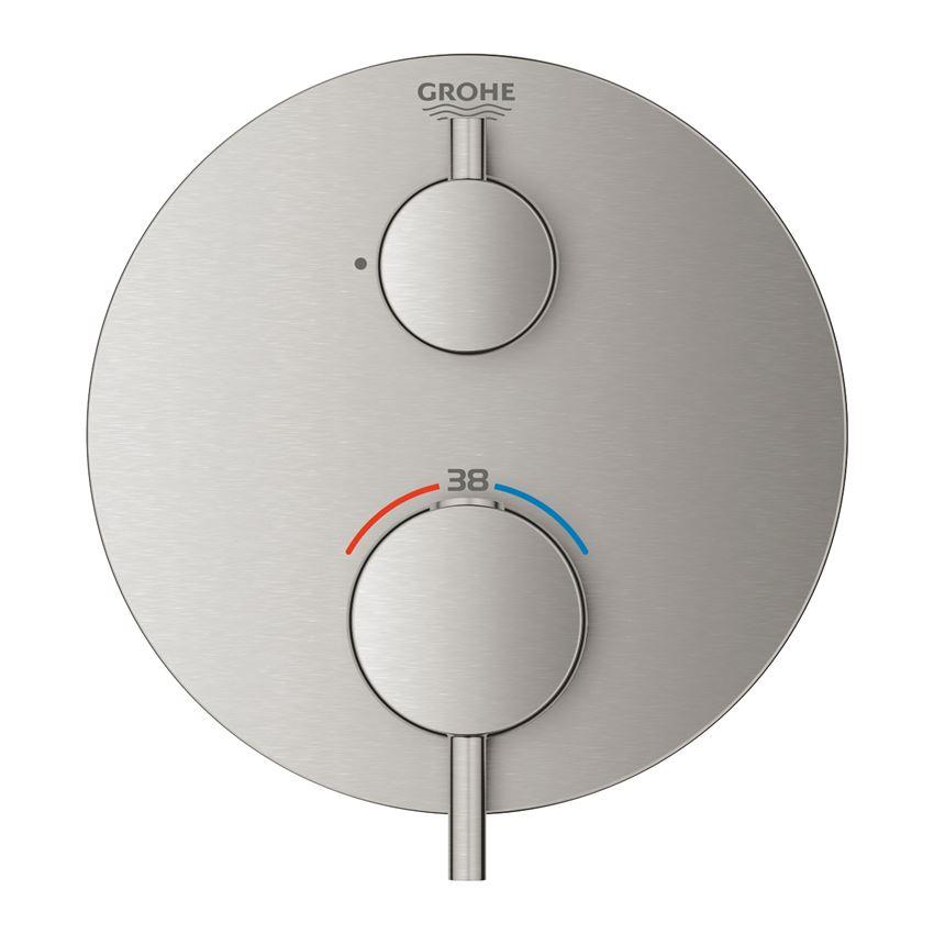 Bateria termostatyczna do obsługi jednego wyjścia wody stal nierdzewna Grohe Atrio